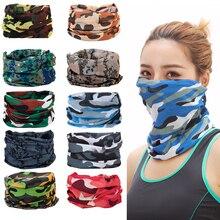 Outdoor Camo Magic Seamless Bandana Scarf Neck Face Gaiter Bandanas Mask Headband UV Resistence Sport Headwear Cycling Hiking
