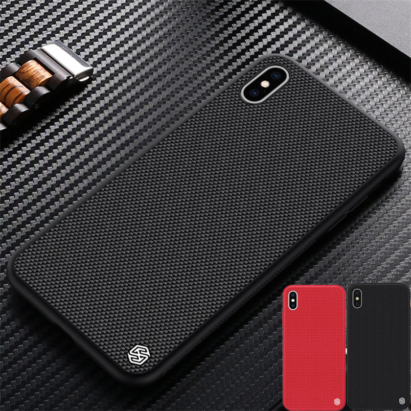 Case for iPhone X XS XR XS Max NILLKIN Textured Nylon Fiber Case Durable Non-slip Thin and Light Back Cover for iPhone XS Case