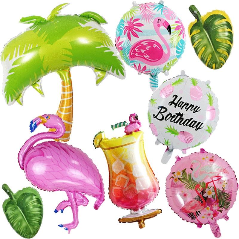Pink Flamingo Balloon Tropical Party Summer Flower Girl Birthday Wedding Decor Flamingo Gifts Hawaii Hawaiian Party Decor