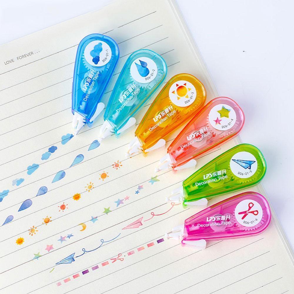 Cute Cartoon Press Decorative Correction Tape Kawaii Stationery Diary School For Kids Drop Decoration Sun Gift Scrapbooking L4E7