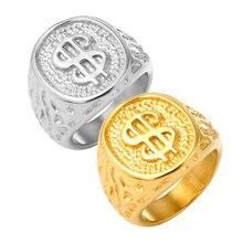 Панк Элитный бренд gold dollar знак Для мужчин женщин Подвески