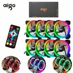Aigo DR12 3pcs Computer Case PC Cooling Fan RGB Adjust LED 120mm Quiet + IR Remote New computer Cooler Cooling RGB Case Fan CPU