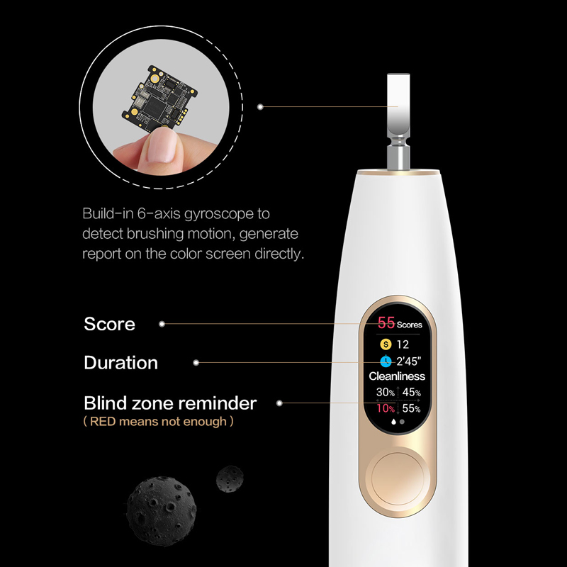Global Version Oclean X Sonic Electric Toothbrush Waterproof Ultrasonic Fast Charging Color Screen Toothbrush from CZ Warehouse