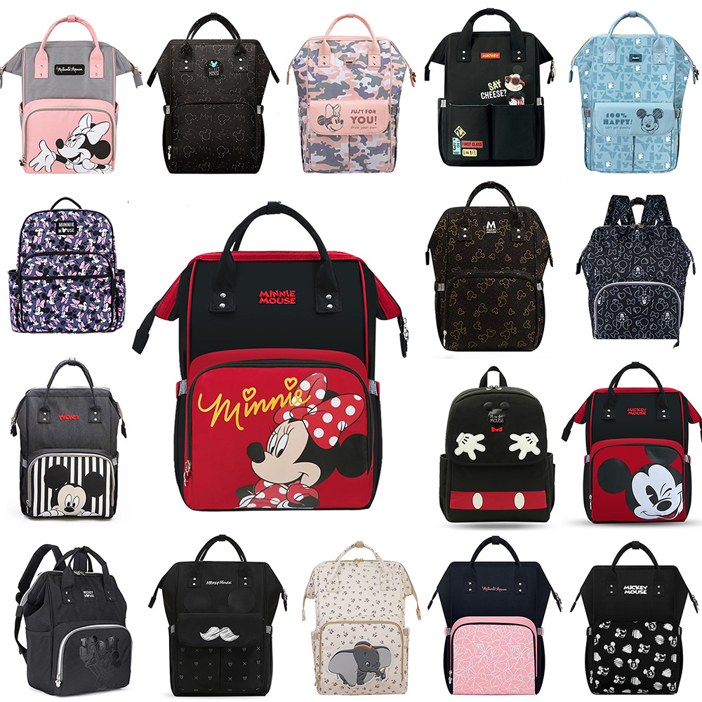 2020 New Diaper Bag Baby Disney USB Heating And Hooks Nappy Backpack USB Heating And HOOKS