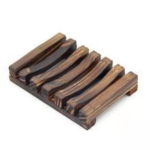1 шт. деревянная мыльница простой деревянный мыльница держатель для хранения мыльница кожух планки ролла контейнер ванная комната мыло для душа ручной работы держатель