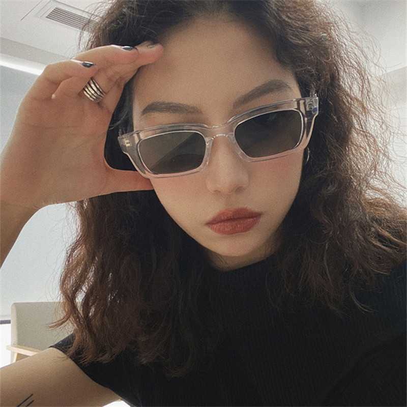 2021 New Women Rectangle Vintage Sunglasses Brand Designer Retro Points Sun Glasses Female Lady Eyeglass Cat Eye Driver Goggles 4