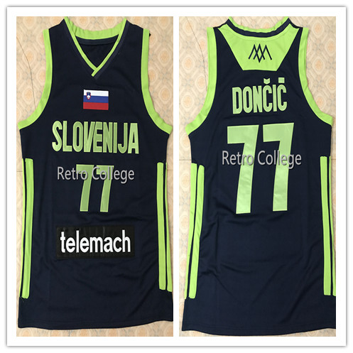 77 Luka Doncic Slovenija Telemach Men S Bule Basketball Jersey Mens Stitched Custom Any Number Name Jerseys Basketball Jerseys Aliexpress