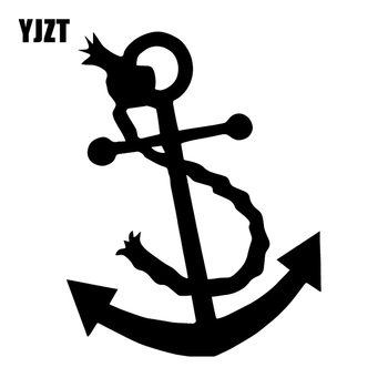 YJZT 13.1X16.7CM ANCHOR Funny Vinyl Decal Stickers Car Window Bumper Decoration C25-1090 image