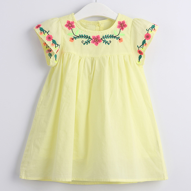 2021 New Summer Baby Girls Princess Dress Embroidered Flower Elegant Wedding Party Dresses Toddler Girls Dress Kids Clothing 1