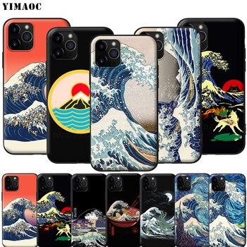 YIMAOC la gran ola de Kanagawa japonés de silicona suave para iPhone 11 Pro XS Max XR 8X8 7 6 6S Plus 5 5S SE