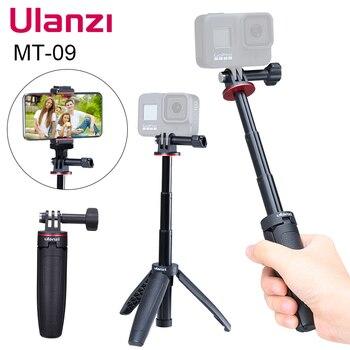Ulanzi MT-09 Extend Gopro Vlog Tripod Mini Portable Tripod for Gopro Hero9 8 7 6 5 Black Session Osmo Action Camera