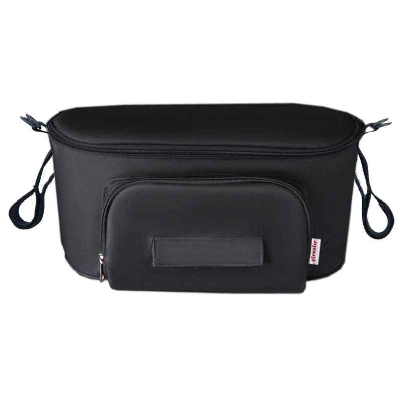 Buggy Pram Bag Organiser, Baby Pushchair Storage Bag Universal Waterproof Stroller Bag Organizer fits All Buggy Models