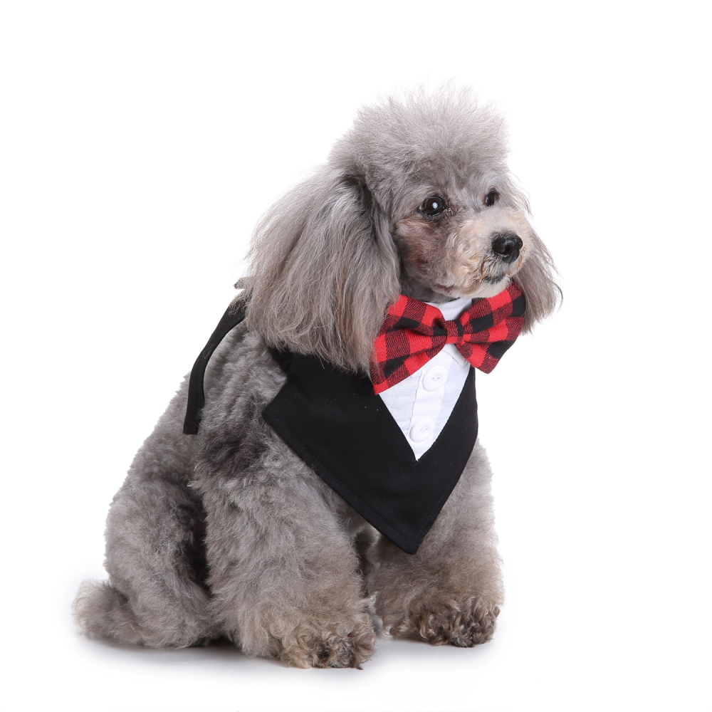 Gentleman Style Dog Bow Tie Adjustable Pet Collar Grooming For Cat Puppy Necktie Lovely Puppy Pet Kitty Accessory D40 in Collars from Home Garden