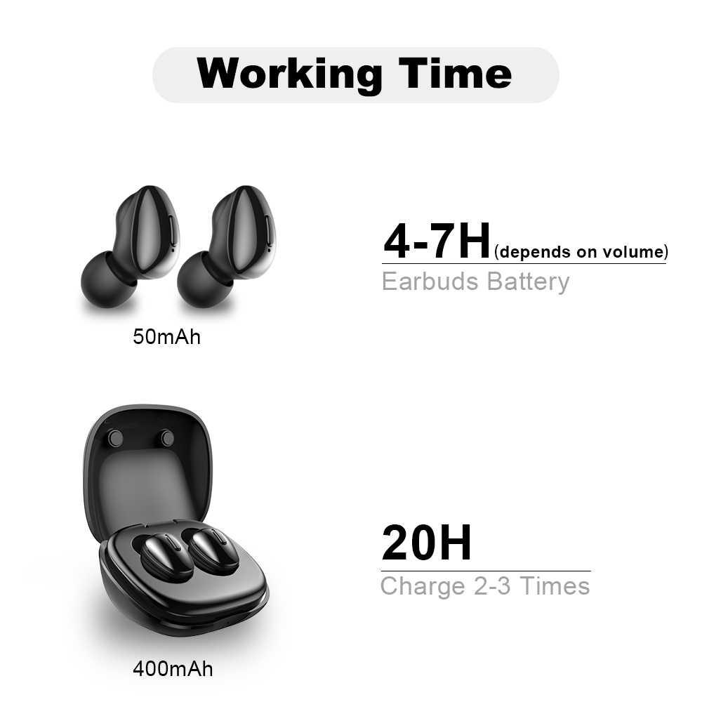 ALWUP i9 TWS Bluetooth 5.0 イヤホンワイヤレスヘッドフォン電話真のワイヤレスステレオミニイヤフォンスポーツマイク充電ボックス