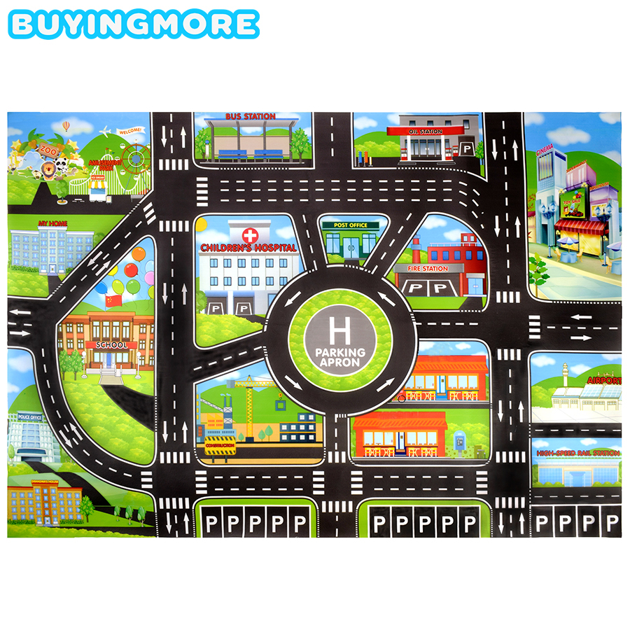 City Car Parking Lot Roadmap Toys For Kids Traffic Signs Road Map Creative Model Educational Toy DIY Road Signs Kids Toys Gifts