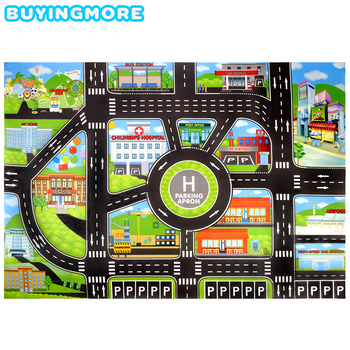 City Car Parking Lot Roadmap Toys for Kids Traffic Signs Road Map Creative Model Educational Toy DIY Road Signs Kids Toys Gifts 48mmx5m railway road washi tape wide creative traffic road adhesive masking tape road for kids toy car play
