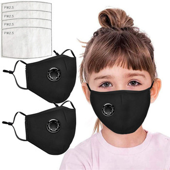 Fast Shipping Face Breathable Mouth Mask 3D Breathing Valve Children Kid Reusable Washable Proof Soft Anti-Flu Mask mascarillas