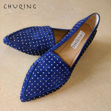 Купить с кэшбэком 2019 Fashion Leather Casual Shoes Women Loafers Flat Shoes Women CHUQING Brand Trend Comfort Leather Flats Pointed Toe Flats