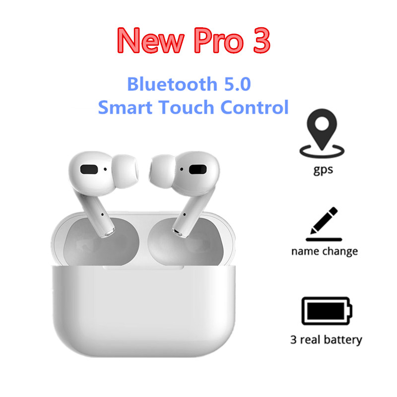 Newest Pro 3 Bluetooth Headphone Wireless Earphones Music Earbuds Rename Positioning Sport Headset With Mic For All Smart Phone