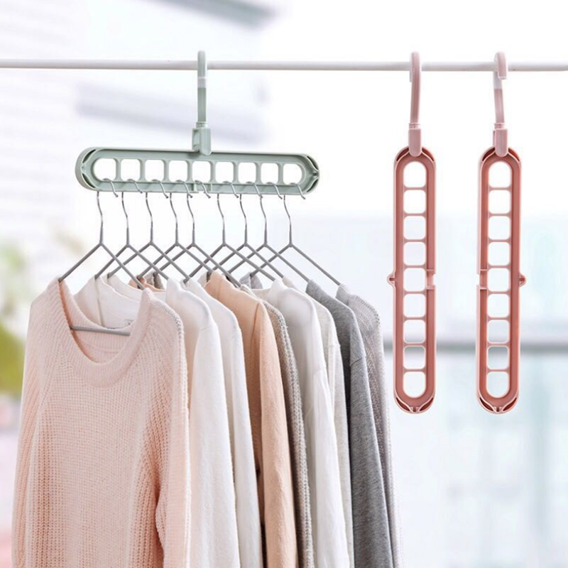Clothes Hanger Magic Multi-port Support Circle Drying Rack Multifunction Plastic Hangers For T-shirt Pants Home Storage