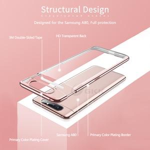 Image 4 - GKK Cassa Di Lusso Originale per Samsung A80 Trasparente Placcatura Protezione Completa Caso Duro Della Copertura per Samsung Galaxy A80 Coque Fundas