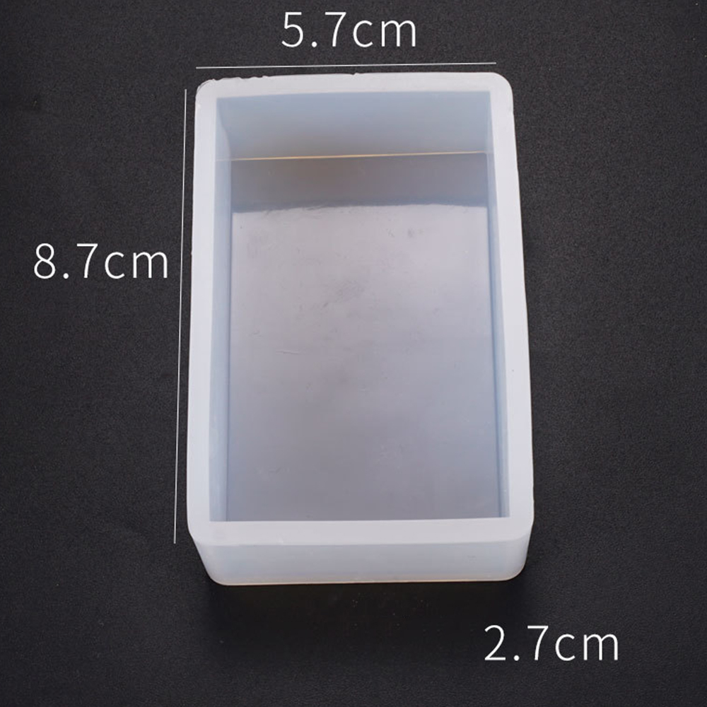 DIY Rectangle Soap Silicone Mold For Succulent Plants Ornament Molds Small Craft Flower Planter Concrete Cement Clay Pot Mold