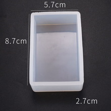 DIY Rectangle Soap Silicone Mold For Succulent Plants Ornament Molds