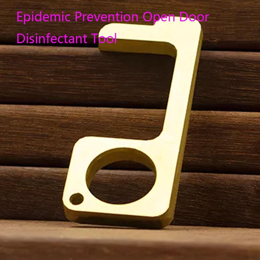 Epidemic Disinfectant Anti Virus Key Chain Universal Key Hook Anti-epidemic Gadget Open Door Disinfectant Tool