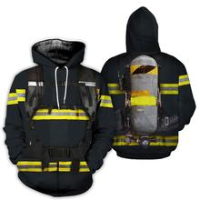 цена на Fashion hoodies men Firefighter Black 3D All Over Printed sweatshirts Unisex Harajuku cosplay streetwear camiseta masculina