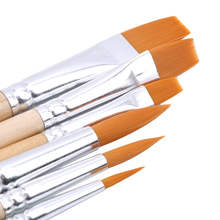 5 teile/satz Nylon Haar Holzgriff Aquarell Pinsel Set Kunst Stift Verschiedenen Form Runden Spitzen Spitze Haar Malerei Pinsel