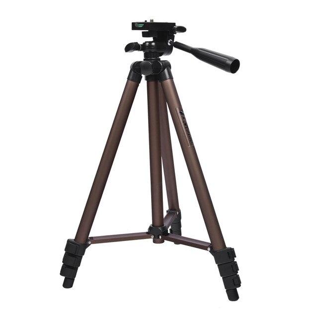 Fosoto profesyonel kamera Tripod standı taşınabilir alüminyum tripodlar için tutucu ile Canon Nikon Sony DSLR kamera kamera telefonu