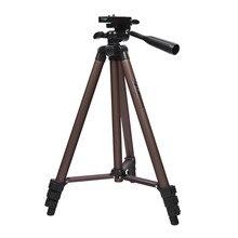 Treppiede professionale fosoto treppiede portatile in alluminio con supporto per Canon Nikon Sony DSLR videocamera telefono