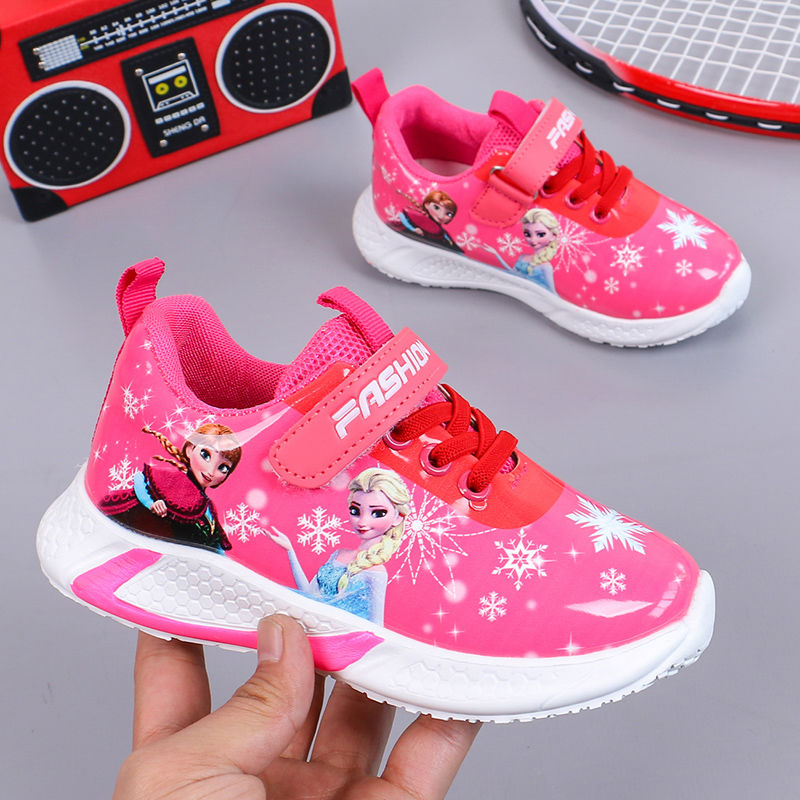 Spring Winter Children Shoes Baby Boy Sport Sneakers Girl Princess Kids Frozen Anna Elsa Casual Running Leather Shoes 26-36