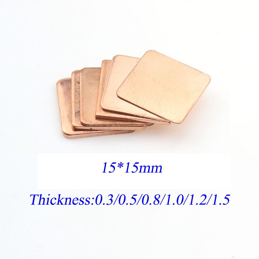 1Pcs 0.3mm/0.5mm/0.8mm/1.0mm Laptop Copper Sheet Plate Strip Shim Thermal Pad Heatsink Sheet For GPU CPU VGA Chip RAM Cooling