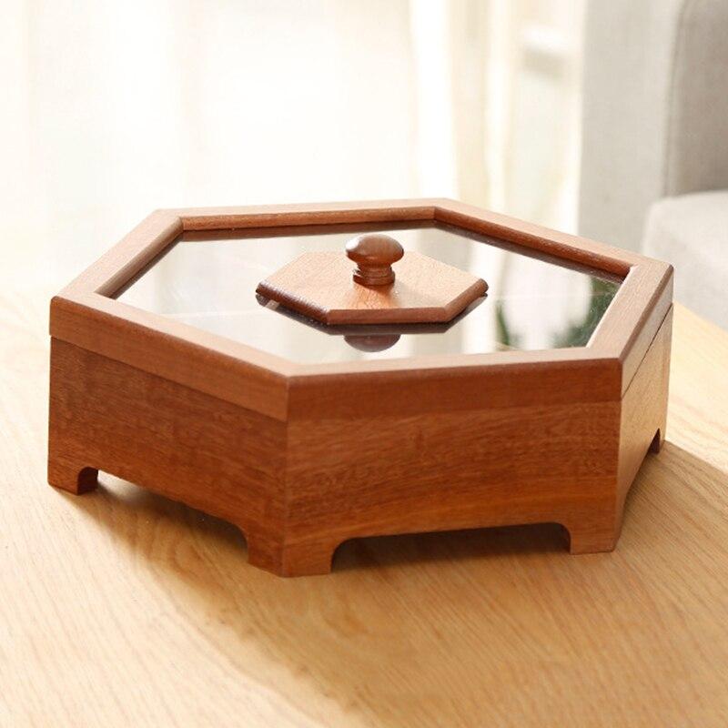 Offre spéciale boîte en bois boîte à bonbons fruits secs collations boîte de bureau solide bois sucre boîte-cadeau de mariage