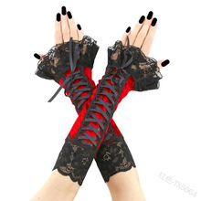 Sweet lolita hand sleeve vintage lace bandage kawaii girl cosplay gothic lolita hand sleeve loli cosplay