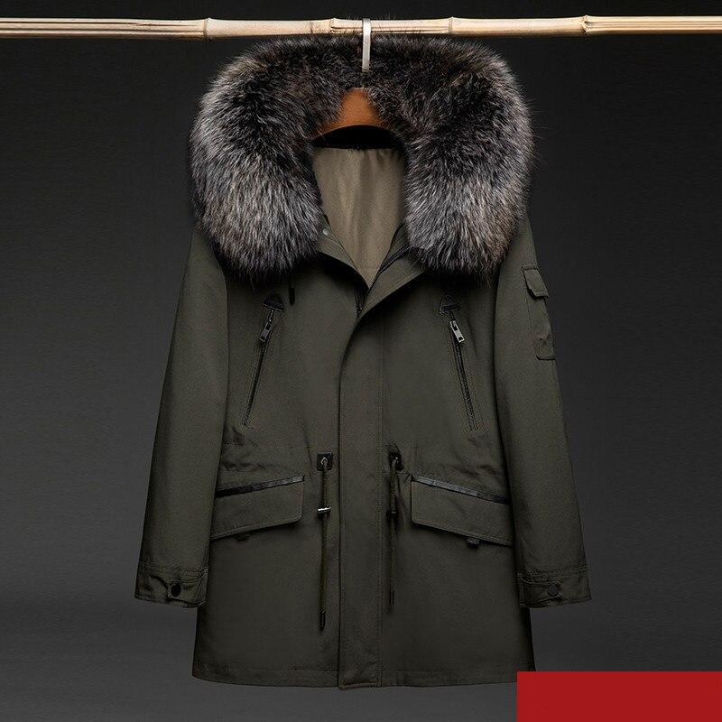 US $369.96 70% OFF|Real Fur Parka Men Natural Rabbit Fur Liner Winter Coat Men Real Raccoon Fur Collar Hooded Parkas for Mens Clothing 1808 5