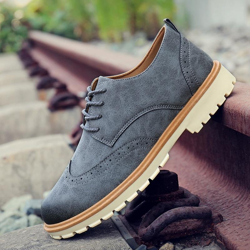 2020 Men Tooling Casual Shoes Men Leather Shoes Footwear Man Shoes Comfortable Men Oxfords