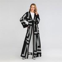 Dubai Muslim stripe maxi dress abayas moroccan for woman