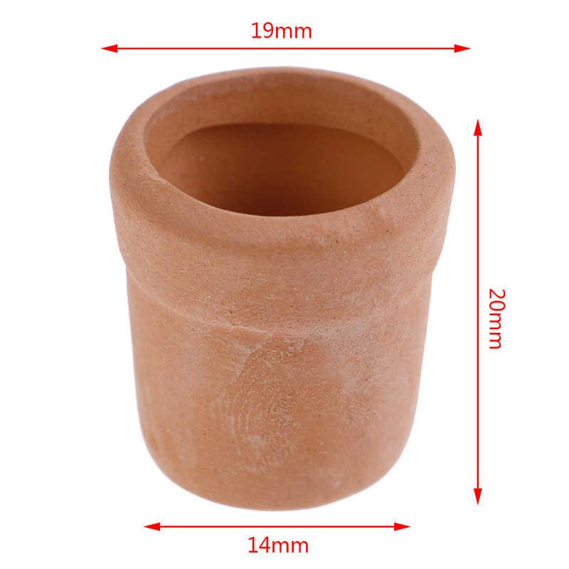 Baru 1:12 Rumah Boneka Miniatur Decora Vas Mini Keramik Pot DIY Buatan Tangan Boneka Dapur Rumah Ornamen