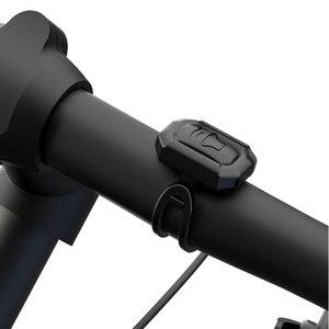 Image 3 - Usb de carregamento da bicicleta sino chifre elétrico alarme alto som para m365 motocicleta scooter mtb bicicleta guiador segurança anti roubo alarme