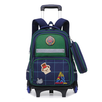 trolley School Bag for boys Girls 3 Wheels Backpack Children wheels school backpack Travel Bag Rolling Schoolbag Kids Mochilas kids wheels removable trolley school backpack children school bags girls kids travel bag princess schoolbag mochilas escolares