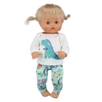 Piękne nowe wiele stylów ubrania pasują 40cm 41cm lalka Nenuco Hermanita fioletowe długie rękawy T-shirt fioletowe kropki spodnie z kapeluszem tanie i dobre opinie Tkaniny CN (pochodzenie) Dress Unisex Moda Akcesoria Suit Akcesoria dla lalek