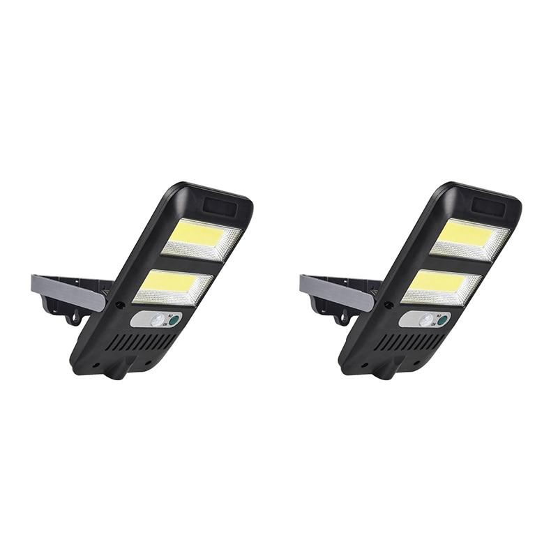 2Pack COB LED Solar Light Outdoor Motion Sensor Solar Street Light with 120 degreeWide Angle for Garden Yard Garage Deck