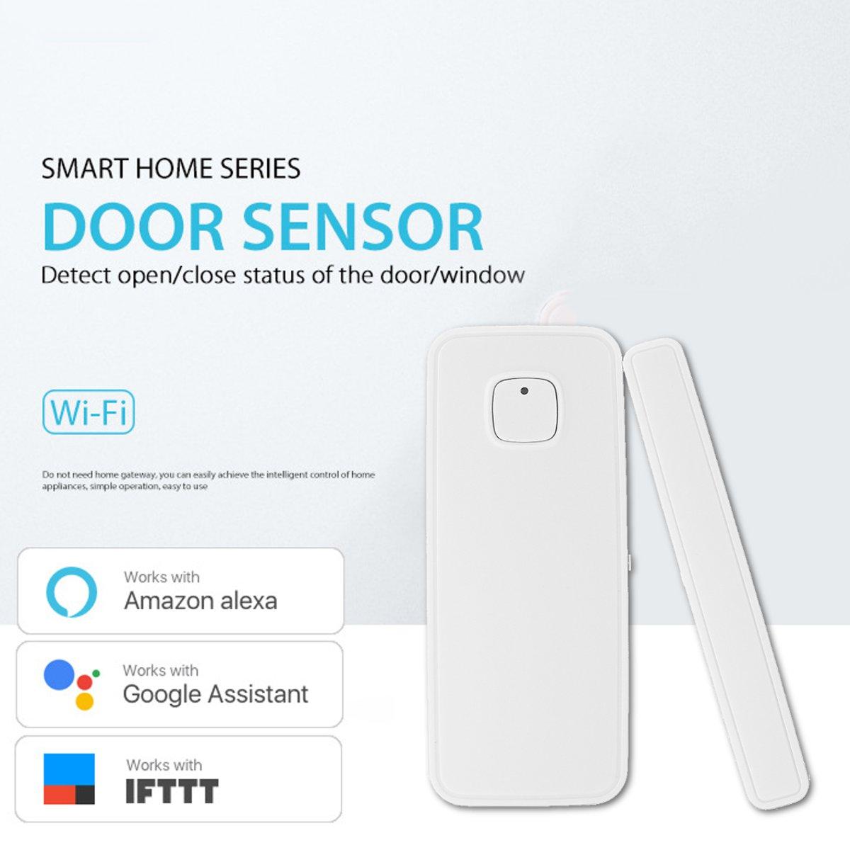 Image 3 - WiFi Smart Door Window Sensor Alarm Kit APP Control Remote Magnetic Detector Home Office Door Window Alarm Security System Set-in Sensor & Detector from Security & Protection