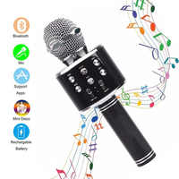 WS858 handheld karaoke Microphone Bluetooth Wireless USB Professional Speaker Ktv Mobile Phone Player Mic studio Record Music