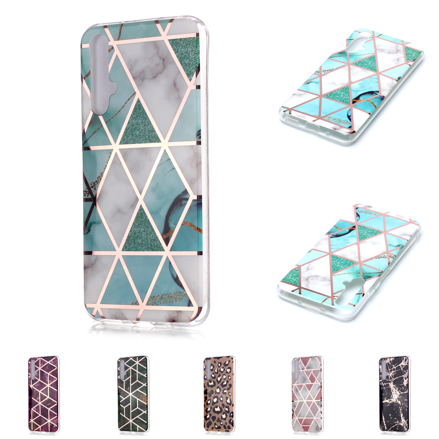 Rose Gold Soft TPU Cover For cellular <font><b>Samsung</b></font> <font><b>A30</b></font> Coque Back Covers sFor Cellular <font><b>Samsung</b></font> Galaxy phone case A20 A20E A20S Casa image