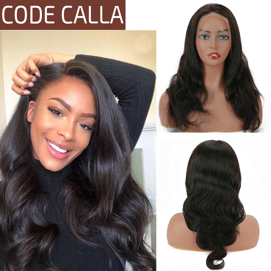 CODE CALLA Lace Front Human Hair Wigs For Women 4*4 And 13*4 Lace Frontal Wig Brazilian Body Wave Pre-Plucked Hairline 8-28 Inch