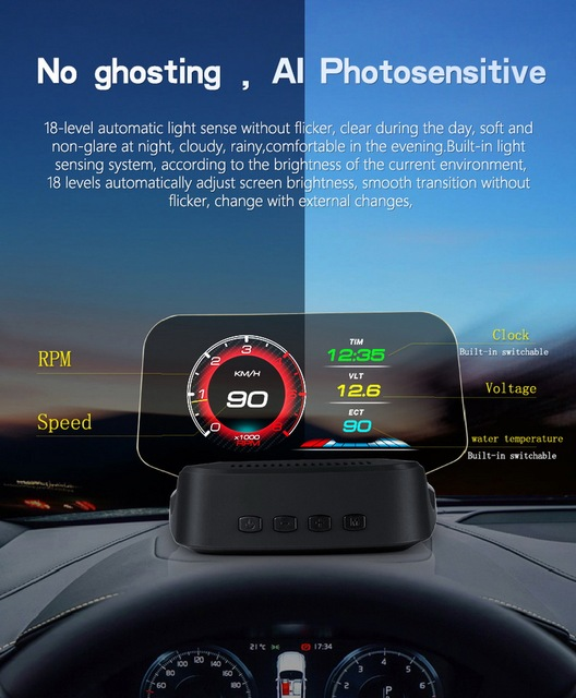 Автомобильный hud Дисплей gps навигация obd2 дисплей на голову