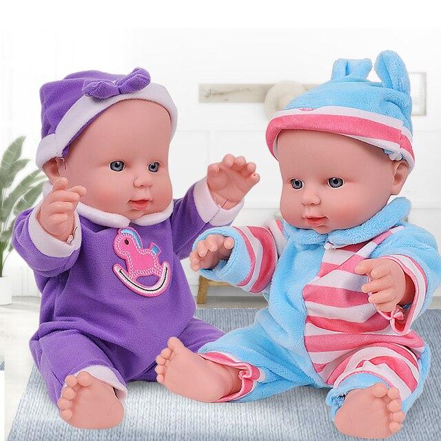 12 pouces belles poupées en Silicone nouveau-né en caoutchouc bébé poupées tout le corps Silicone Reborn Bebe poupées anniversaire de noël pour fille jouets